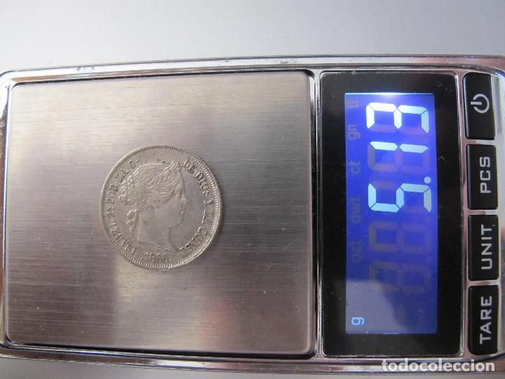 Monedas de España: 40 céntimos de escudo - Isabel II - 1866 - EBC - Foto 3 - 150942758