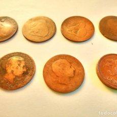 Monedas de España: 7 MONEDAS DE COBRE. 6 DE 1.870 - 1 DE 1.937 (REGULAR ESTADO). VARIAS FOTOS Y DESCRIPCION.. Lote 151209366