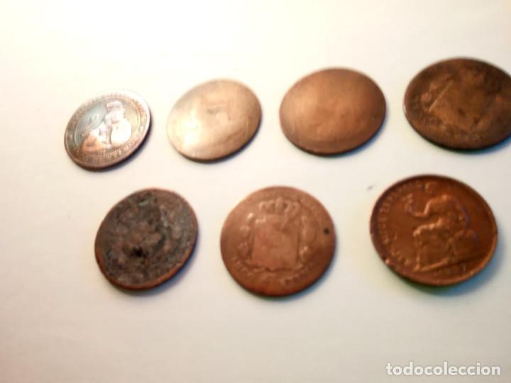Monedas de España: 7 MONEDAS DE COBRE. 6 DE 1.870 - 1 DE 1.937 (REGULAR ESTADO). VARIAS FOTOS Y DESCRIPCION. - Foto 5 - 151209366