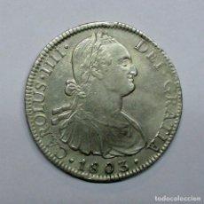 Monedas de España: CARLOS IV, 1803 - MONEDA DE 8 REALES DE PLATA 1803 DE LA CECA DE MÉXICO F.T. LOTE 1508. Lote 151259974