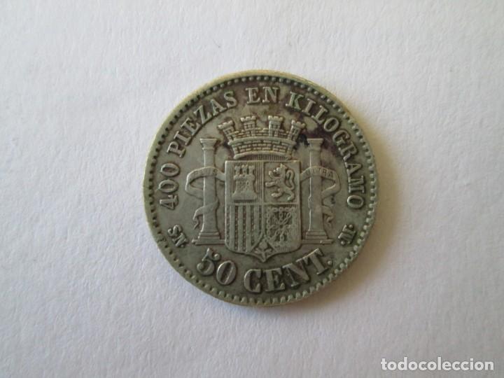 Monedas de España: GOBIERNO PROVISIONAL * 50 CENTIMOS 1870*70 SN M * PLATA - Foto 2 - 151329002
