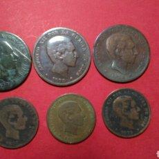 Monedas de España: ALFONSO XII. LOTE/COLECCION DE LOS SEIS COBRES. 1877,1878 Y 1879.. Lote 151477545