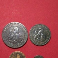 Monedas de España: GOBIERNO PROVISIONAL. LOTE/COLECCION DE LOS CUATRO COBRES DE 1870.. Lote 151477830