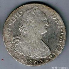 Monedas de España: MONEDA CARLOS IIII IV 8 REALES PLATA AÑO 1803 CECA LIMA ENSAYADOR I J. RARA. Lote 151562098