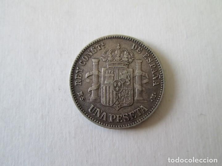 Monedas de España: ALFONSO XII * 1 PESETA 1882*82 MS M * PLATA - Foto 2 - 151605566
