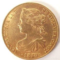 Monedas de España: MONEDA DE ORO 22 KT. 100 REALES. ISABEL 2ª. REINA DE LAS ESPAÑAS. 1860. . Lote 151688370