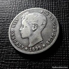 Monedas de España: ALFONSO XIII 1 PESETA PLATA 1899 SMV MBC-. Lote 151908486
