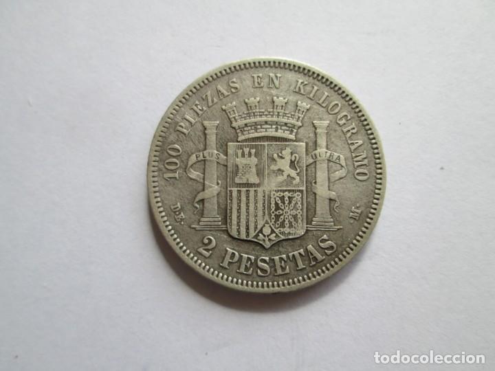 Monedas de España: GOBIERNO PROVISIONAL * 2 PESETAS 1870*73 DE M * PLATA - Foto 2 - 215852240