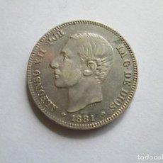 Monedas de España: ALFONSO XII * 2 PESETAS 1881*81 MS M * PLATA. Lote 152230494
