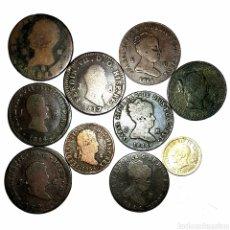 Monedas de España: MUY INTERESANTE! 10 PIEZAS BORBÓNICAS CON PLATA. Lote 152586394