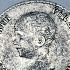 Monedas de España: PLATA ESCASA! 1889*8*9 MPM. 50 CÉNTIMOS. Lote 152591840
