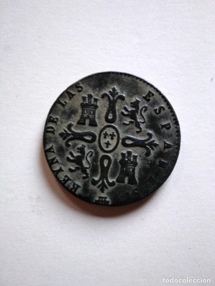 Monedas de España: 8 maravedís, Isabel ii 1849 Segovia - Foto 2 - 153463830