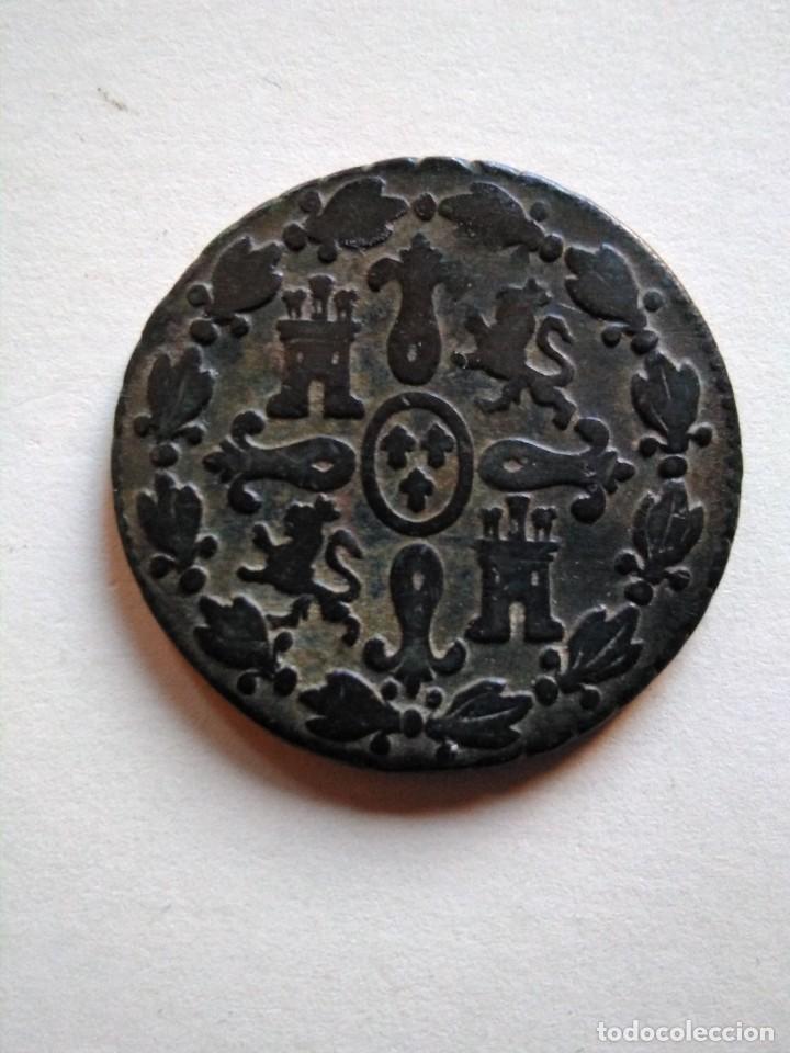 Monedas de España: Moneda de 4 maravedís, Fernando vii, 1829 Segovia - Foto 2 - 153471210
