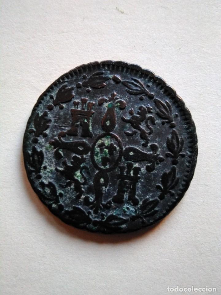 Monedas de España: Moneda de 4 maravedís, Fernando vii 1830, Segovia - Foto 2 - 153471514