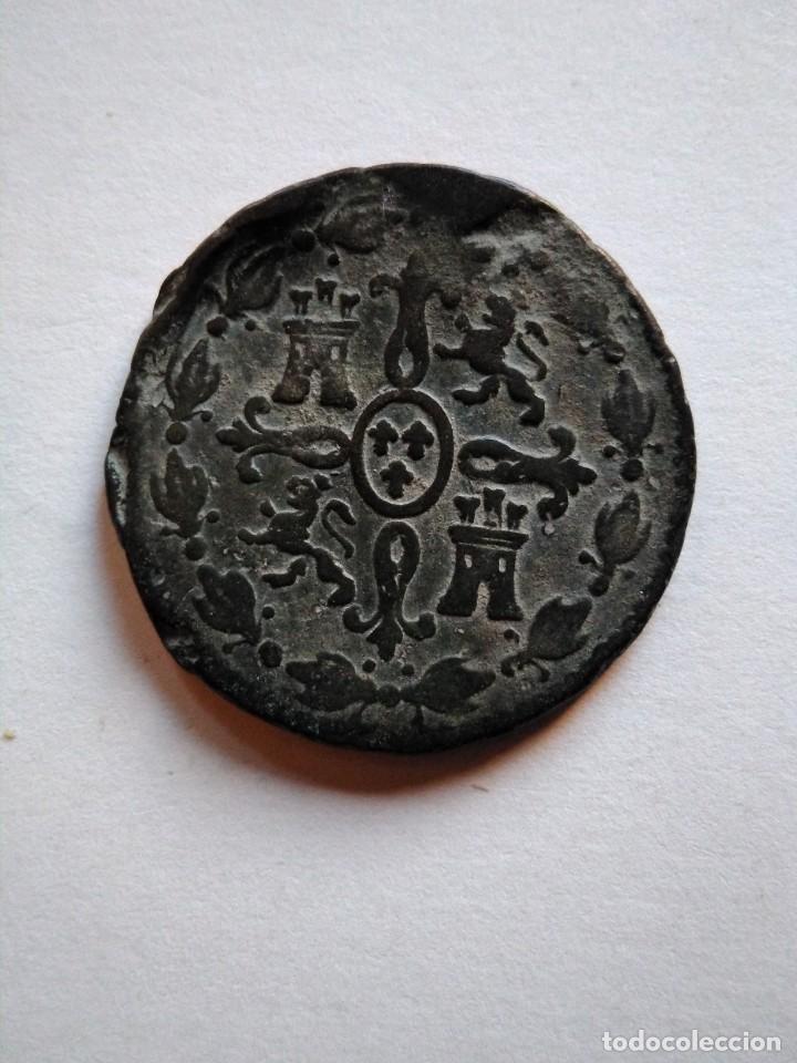 Monedas de España: Moneda de 4 maravedís, Fernando vii 1833, Segovia - Foto 2 - 153471986