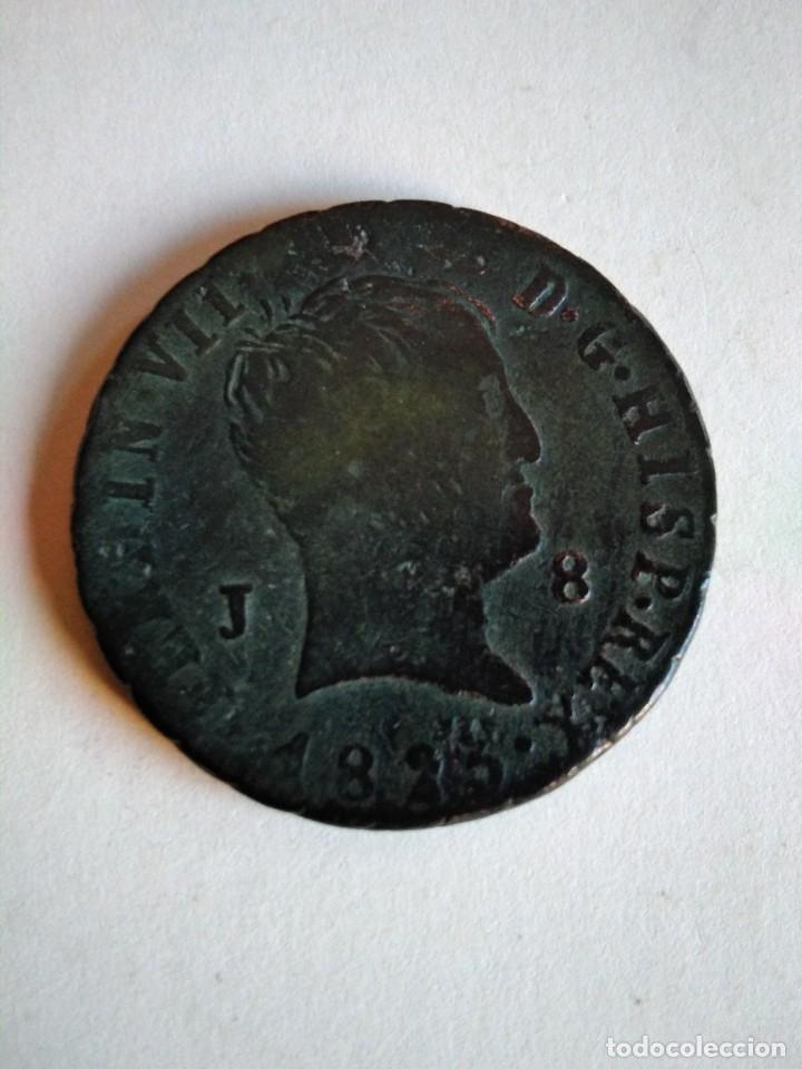 MONEDA DE 8 MARAVEDÍS, FERNANDO VII 1825, JUBIA (Numismática - España Modernas y Contemporáneas - De Reyes Católicos (1.474) a Fernando VII (1.833))