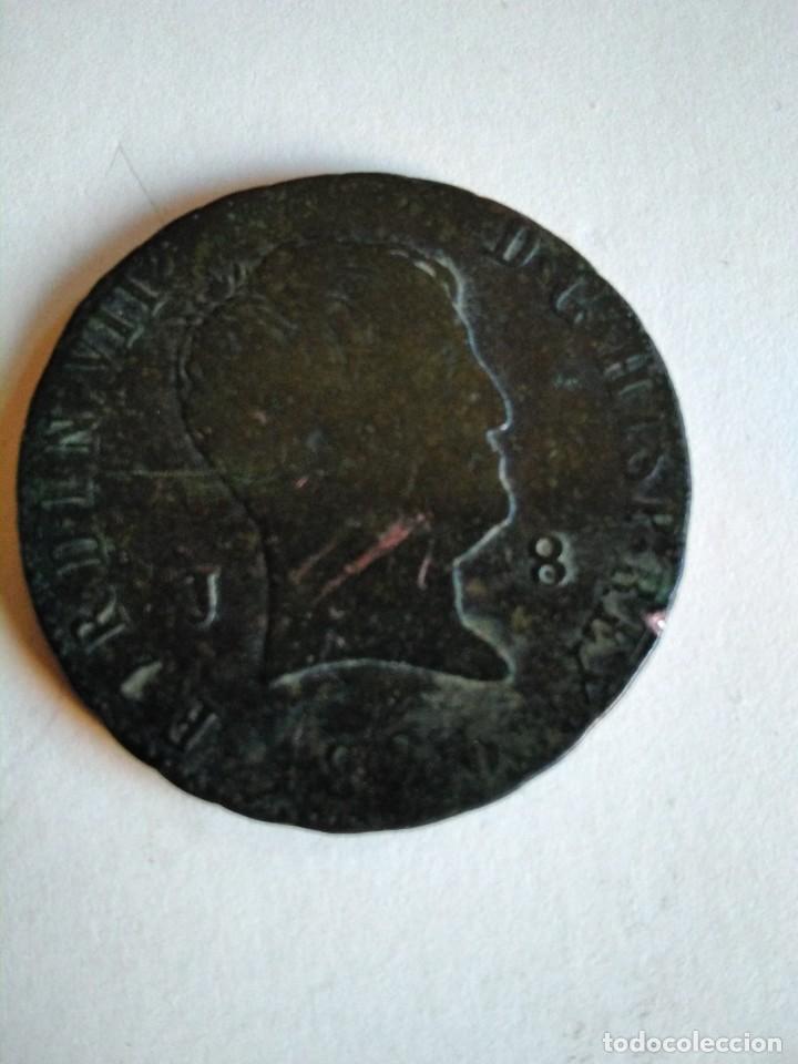 MONEDA DE 8 MARAVEDÍS, FERNANDO VII 1826, JUBIA (Numismática - España Modernas y Contemporáneas - De Reyes Católicos (1.474) a Fernando VII (1.833))