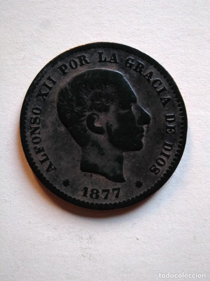 5 CÉNTIMOS, ALFONSO XIII,1877 OM (Numismática - España Modernas y Contemporáneas - De Isabel II (1.834) a Alfonso XIII (1.931))