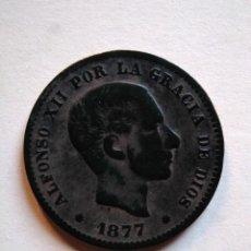 Monedas de España: 5 CÉNTIMOS, ALFONSO XIII,1877 OM. Lote 153523502