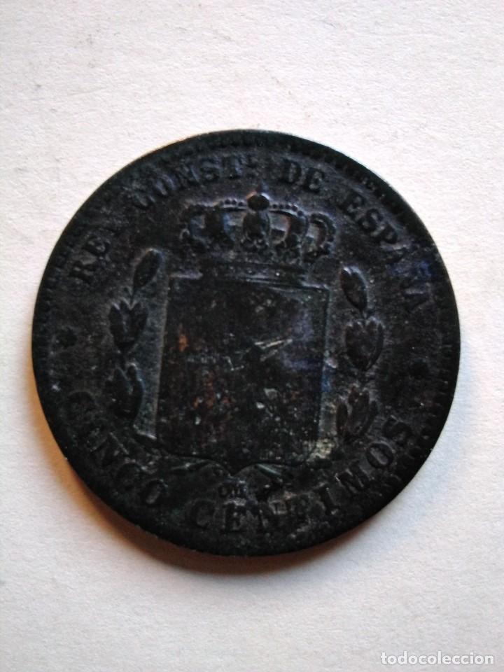 Monedas de España: 5 céntimos, Alfonso xii, 1879 om - Foto 2 - 153523894