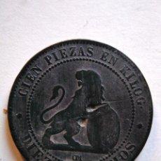 Monedas de España: 10 CÉNTIMOS,1° REPÚBLICA, GOBIERNO PROVISIONAL,1870. Lote 153524166