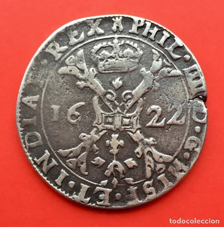 ¡¡ RARA !! 1 PATAGON DUCATON 8 REALES FELIPE IV. AÑO 1622. CECA DE BRUSELAS. (Numismática - España Modernas y Contemporáneas - De Reyes Católicos (1.474) a Fernando VII (1.833))