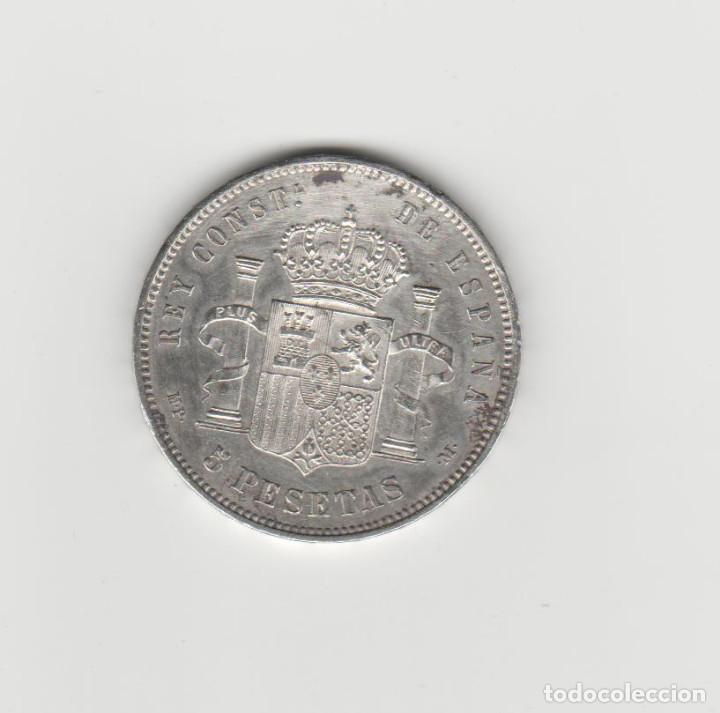 Monedas de España: ALFONSO XIII- 5 PESETAS-1888-MPM/ EBC - Foto 2 - 153925814