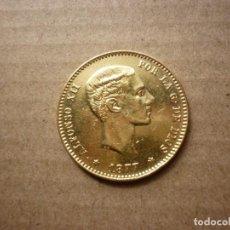 Monedas de España: MONEDA ORO DE 25 PESETAS 1877 * 77 - REY ALFONSO XII.. Lote 153946878