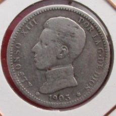 Monedas de España: ALFONSO XIII. MONEDA DE 1 PESETA. 1903. PLATA.. Lote 154626858