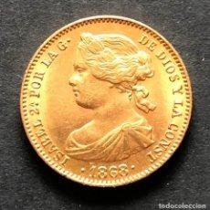 Monedas de España: MONEDA DE 10 ESCUDOS DE ORO DE 1868 18*73* - ISABEL II. Lote 154742506