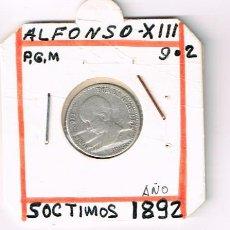 Monedas de España: ALFONSO XIII, 50 CTMS.. Lote 154763218