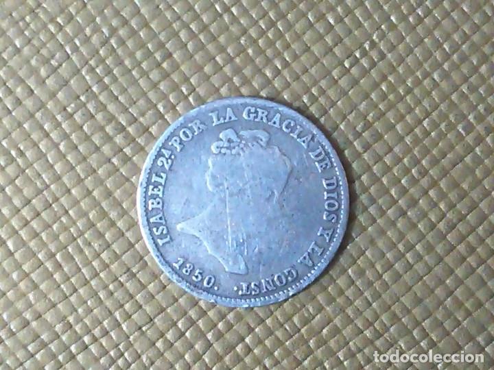 Monedas de España: MONEDA DE PLATA ESPAÑA 1850 - Foto 2 - 155240618