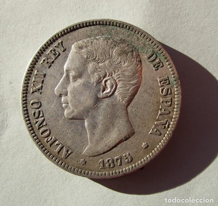 ALFONSO XII . 5 PESETAS MUY BONITAS . AÑO 1875 . (Numismática - España Modernas y Contemporáneas - De Isabel II (1.834) a Alfonso XIII (1.931))