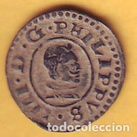 FELIPE IV 8 MARAVEDIES CECA DE SEVILLA 1661 (Numismática - España Modernas y Contemporáneas - De Reyes Católicos (1.474) a Fernando VII (1.833))