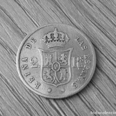 Monedas de España: 2 REALES 1863 CECA SEVILA. Lote 155615082