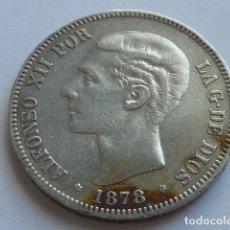 Monedas de España: MONEDA DE PLATA DE 5 PESETAS DE ALFONSO XII DE 1878 * 18 78 EM M ESTRELLAS VISIBLES . Lote 155747022