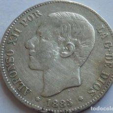 Monedas de España: MONEDA DE PLATA DE 5 PESETAS DE ALFONSO XII DE 1885 * 1_ 86 MS M ESTRELLAS VISIBLES . Lote 155747682