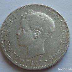 Monedas de España: MONEDA DE PLATA DE 5 PESETAS DE ALFONSO XIII DE 1897 * 18 97 SG V ESTRELLAS VISIBLES. Lote 155749498