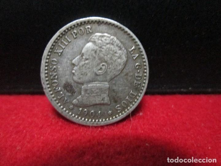 50 CENTIMOS 1904 ALFONSO XIII ESTRELLAS 0 4 PLATA (Numismática - España Modernas y Contemporáneas - De Isabel II (1.834) a Alfonso XIII (1.931))