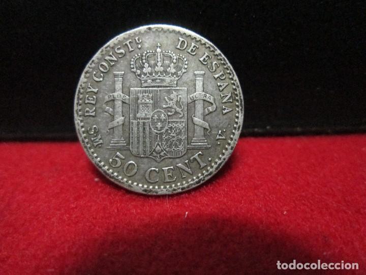 Monedas de España: 50 centimos 1904 alfonso XIII ESTRELLAS 0 4 PLATA - Foto 2 - 156532334