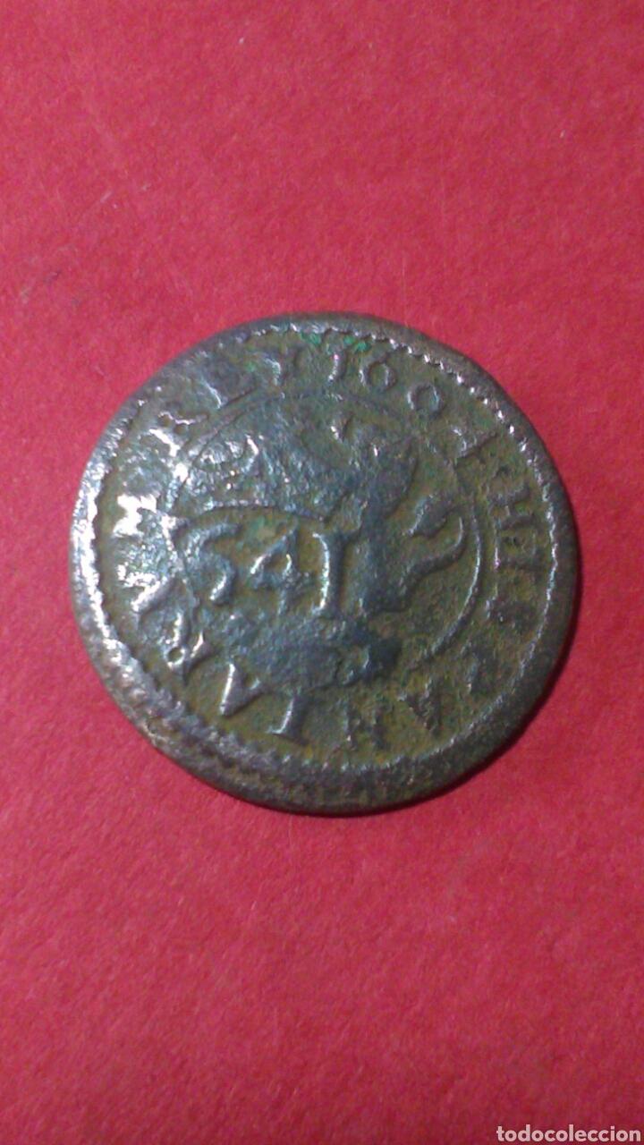 Monedas de España: FELIPE IV. RESELLO DE 6 MARAVEDIS, CUENCA 1641 SOBRE 4 MRV SEGOVIA. 1604. - Foto 2 - 156612738