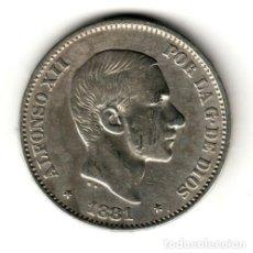 Monedas de España: ESPAÑA: 50 CENTAVOS DE PESO 1881 PLATA ALFONSO XII CECA MANILA - ISLAS FILIPINAS. Lote 156623790