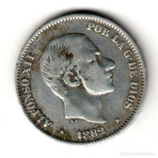 Monedas de España: ESPAÑA: 50 CENTAVOS DE PESO 1882 PLATA ALFONSO XII CECA MANILA - ISLAS FILIPINAS. Lote 156625722
