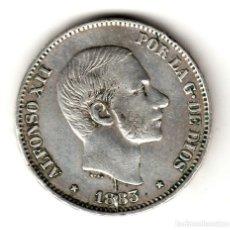 Monedas de España: ESPAÑA: 50 CENTAVOS DE PESO 1883 PLATA ALFONSO XII CECA MANILA - ISLAS FILIPINAS. Lote 156627258