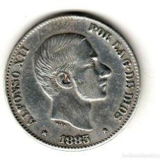 Monedas de España: ESPAÑA: 50 CENTAVOS DE PESO 1883 PLATA ALFONSO XII CECA MANILA - ISLAS FILIPINAS. Lote 156627762