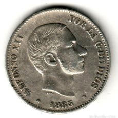Monedas de España: ESPAÑA: 50 CENTAVOS DE PESO 1885 PLATA ALFONSO XII CECA MANILA - ISLAS FILIPINAS. Lote 156629590