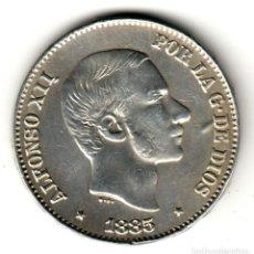 Monedas de España: ESPAÑA: 50 CENTAVOS DE PESO 1885 PLATA ALFONSO XII CECA MANILA - ISLAS FILIPINAS. Lote 156630622