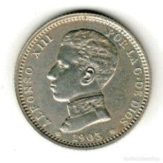 Monedas de España: ESPAÑA 1 PESETA PLATA 1903 *19* *03* REY ALFONSO XIII TIPO CADETE - MUY BONITA. Lote 156634822