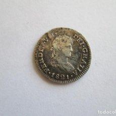 Monedas de España: FERNANDO VII * 1/2 REAL 1821 MEXICO JJ * PLATA. Lote 156683570