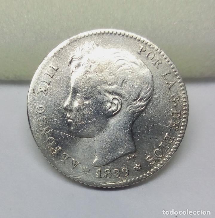 MONEDA DE PLATA, 1 PESETA DE ALFONSO XIII (1899) - MEDIDA 2'30 CM - PESO 4.85 GR. (Numismática - España Modernas y Contemporáneas - De Isabel II (1.834) a Alfonso XIII (1.931))